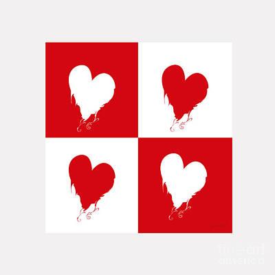 Kim Digital Art - Extraordinary Heart For You M3 by Johannes Murat