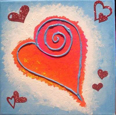 Painting - Heart 4 by Anne Gardner