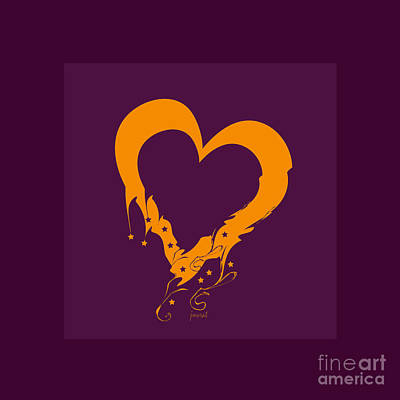 Kim Digital Art - Extraordinary Heart For You M11 by Johannes Murat