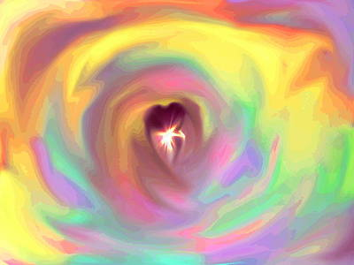 Digital Art - Heart Abstract by Marianna Mills