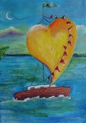 Heart Across The Harbor Art Print