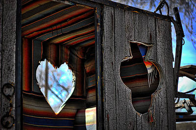 Photograph - Heart And Club On Wood by Dave Garner