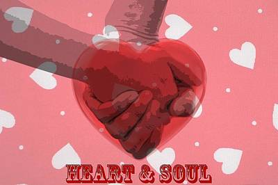 Couple Mixed Media - Heart And Soul by Dan Sproul