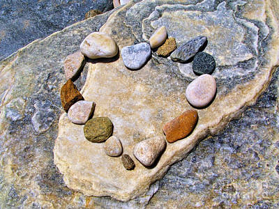 Photograph - Heart And Stones  by Daliana Pacuraru