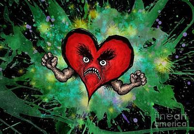 Digital Art - Heart Attack by M o R x N