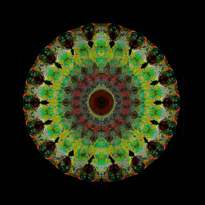 Healing Mixed Media - Heart Aura - Mandala Art By Sharon Cummings by Sharon Cummings
