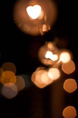 Photograph - Heart Bokeh by Anthony Doudt
