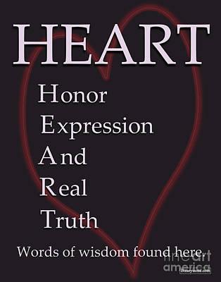 Heart Buseyism By Gary Busey Art Print