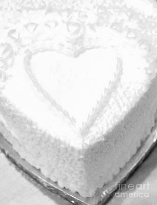 Heart Cake Art Print by Kathleen Struckle