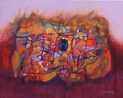 Heart Cave Art Print by J W Kelly