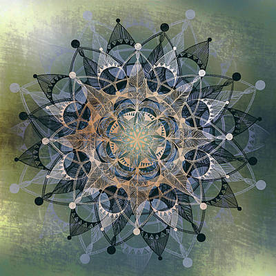 Radiating Chakra Drawing - Heart Chakra by Brenda Erickson