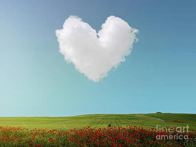 Poppie Digital Art - Heart Cloud by Kitty Bitty