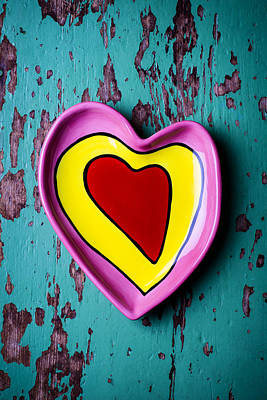 Photograph - Heart Dish by Garry Gay