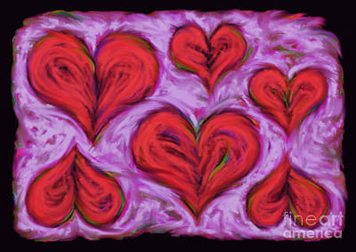 Loose Style Digital Art - Heart Drift by Keith Mills