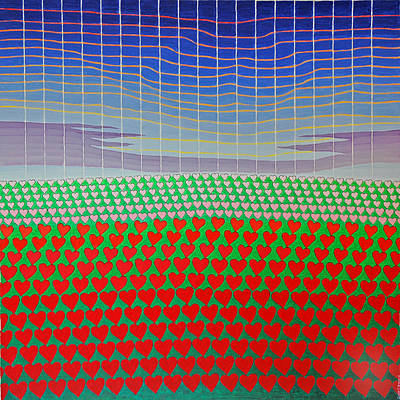 Painting - Heart Fields Again by Jesse Jackson Brown