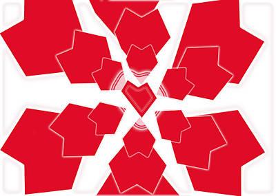 Digital Art - Heart Flower 1 by Kristy Jeppson