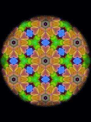 Digital Art - Heart Flower Mandala by Karen Buford