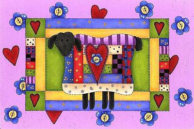 Painting - Heart For Ewe by Tracy Campbell