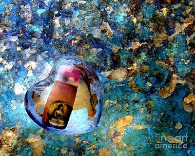 Photograph - Heart Glass Orbs Stupa by Marlene Rose Besso