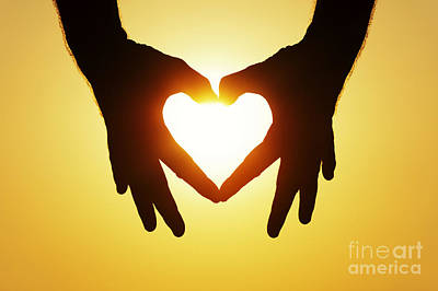 Unity Photograph - Heart Hands by Tim Gainey