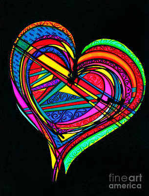 Drawing - Heart Heart Heart by Joey Gonzalez