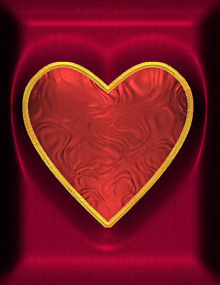 Digital Art - Heart-held 1 by Wendy J St Christopher
