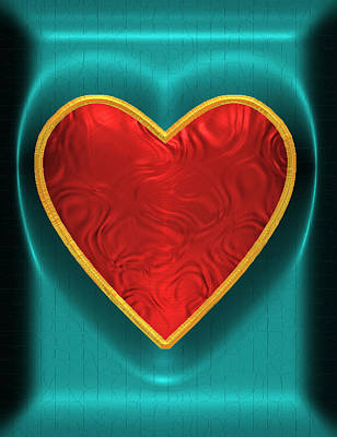 Digital Art - Heart-held 2 by Wendy J St Christopher