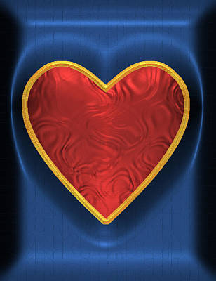 Digital Art - Heart-held 3 by Wendy J St Christopher