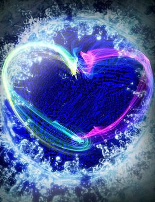 Etc. Digital Art - Heart by HollyWood Creation By linda zanini