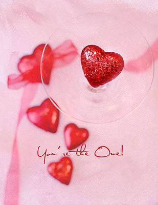 Photograph - Heart In Glas - You're The One by Rebecca Cozart