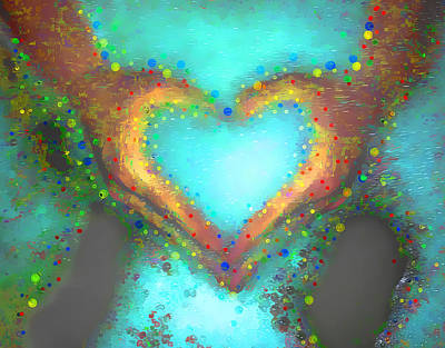 Photograph - Heart In Hand Love Bubble Baths by Robin Lewis