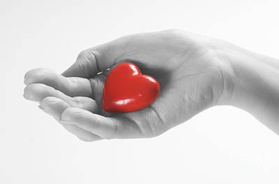 Ideas Photograph - Heart In Hand by Michal Bednarek