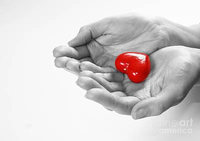 Gift Photograph - Heart In Hands by Michal Bednarek