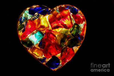 Stained Glass Photograph - Heart In The Dark by Kerstin Ivarsson