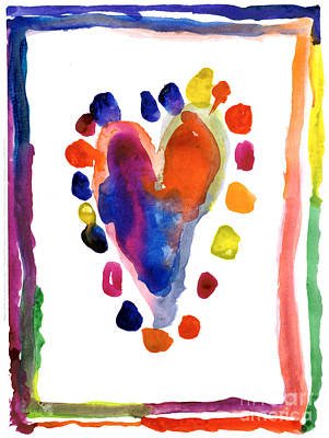 Painting - Heart by Kasey Hutcheson Age Seven