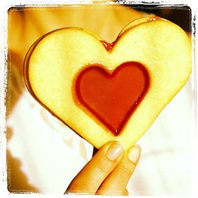 Woman Wall Art - Photograph - Heart Love Cookie by Matthias Hauser
