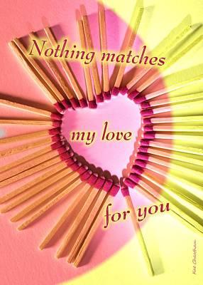 Heart Matches Art Print