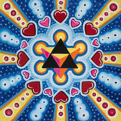 Heart Merkaba Print by Christopher Sheehan