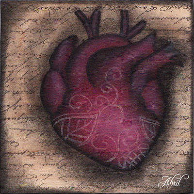 Painting - Heart Mini  by  Abril Andrade Griffith