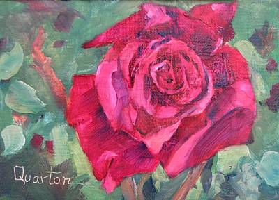 Painting - Heart Of A Rose by Lori Quarton