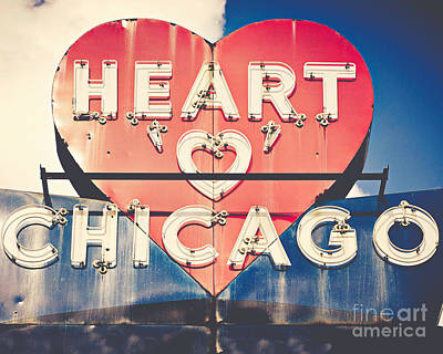 Heart Of Chicago Art Print