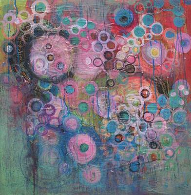 Painting - Heart Of Circles by Laurie Maves ART