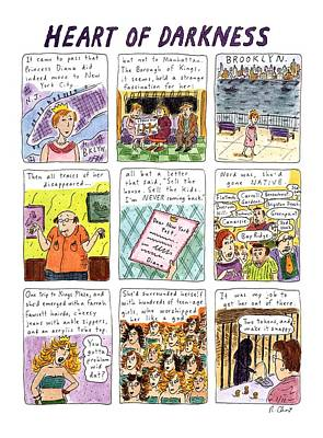 Princess Diana Drawing - Heart Of Darkness by Roz Chast