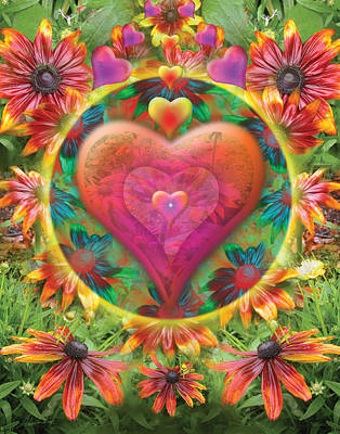 Alixandra Mullins Photograph - Heart Of Flowers by Alixandra Mullins