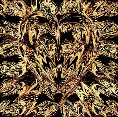 Digital Art - Heart Of Gold by Anthony Bean