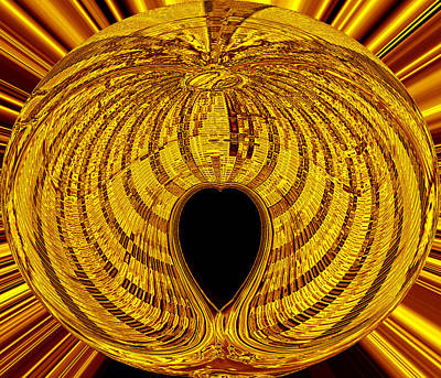 Heart Of Gold Digital Art - Heart Of Gold by David Lee Thompson