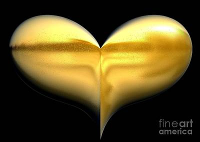 Heart Of Gold Art Print by Gail Matthews