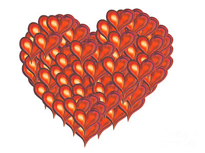 Heart Painting - Heart Of Hearts by Kerstin Ivarsson