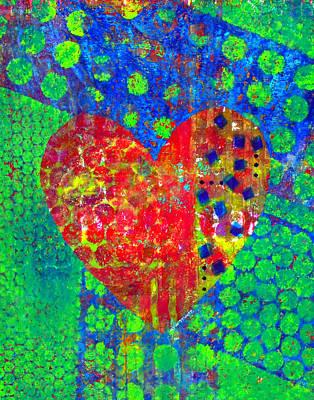 Feelings Mixed Media - Heart Of Hearts Series - Cheers by Moon Stumpp