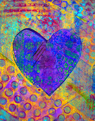 Emotion Mixed Media - Heart Of Hearts Series - Compassion by Moon Stumpp